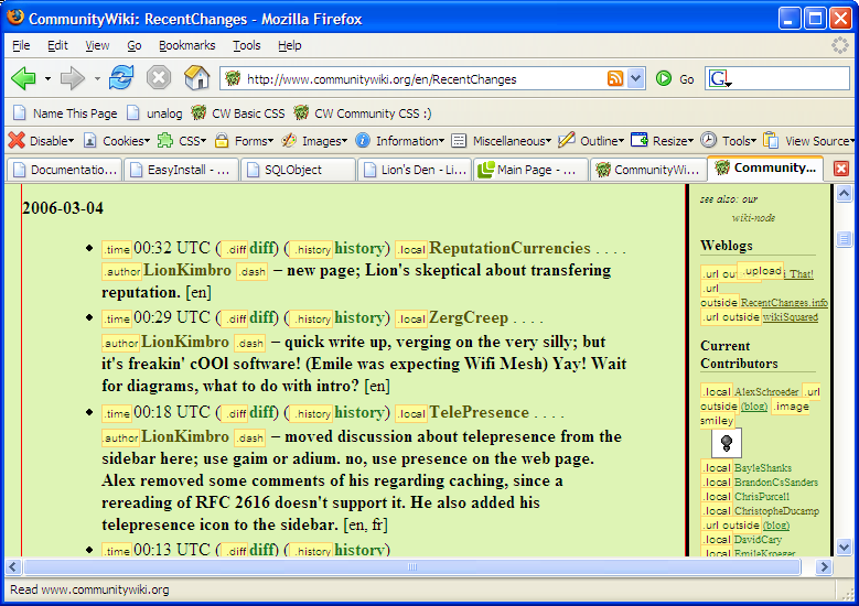 FirefoxWebDevelopersExtensionScreenshot