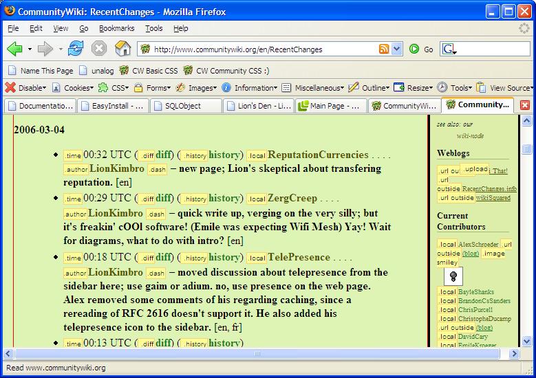 FirefoxWebDevelopersExtensionScreenshot