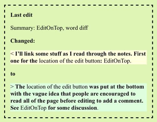Word Diff Example Screenshot